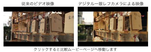デジタル一眼レフカメラの映像比較