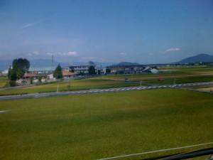 新幹線からの景色(たんぼ)