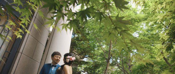 軽井沢の緑の中で