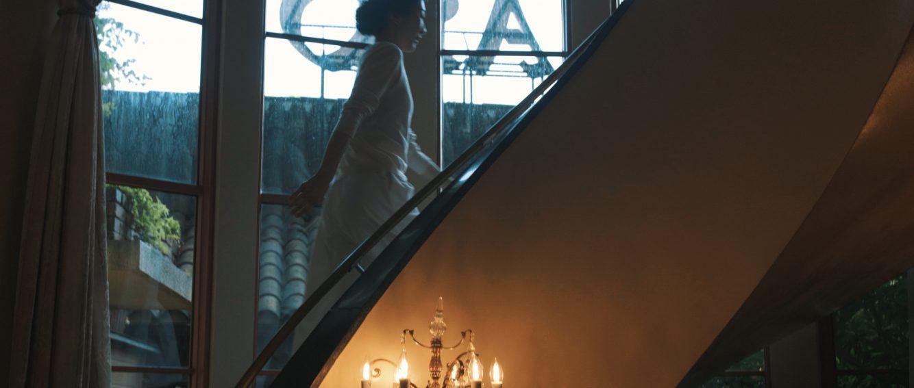 リストランテASO階段で